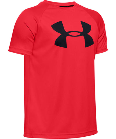 UNDER ARMOUR KID'S TECH BIG LOGO T SHIRT - RED