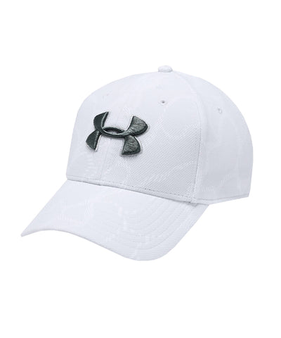 UNDER ARMOUR MEN'S PRINTED BLITZING 3.0 HAT - GREY/BLACK