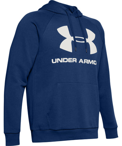 UNDER ARMOUR MEN'S RIVAL FLEECE LOGO HOODIE II - NAVY