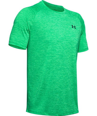 UNDER ARMOUR MEN'S TECH T SHIRT - GREEN