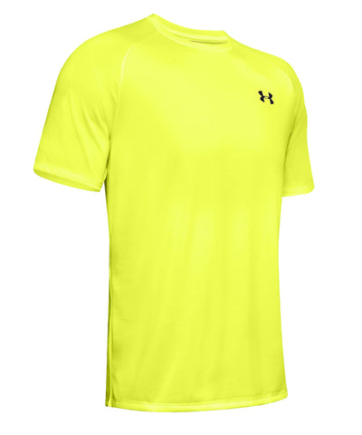UNDER ARMOUR MEN'S TECH T SHIRT - YELLOW