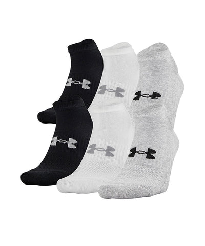 UNDER ARMOUR KIDS TRAINING NO SHOW SOCKS 6 PACK - GREY