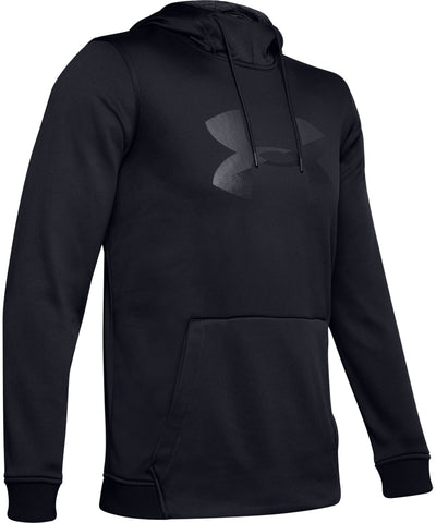 UNDER ARMOUR AF PO BIG LOGO GRAPHIC MEN'S HOODIE - BLACK