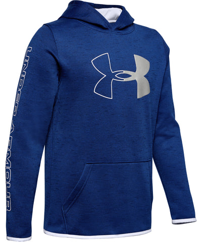 UNDER ARMOUR ARMOUR FLEECE BRANDED KID'S HOODIE - NAVY