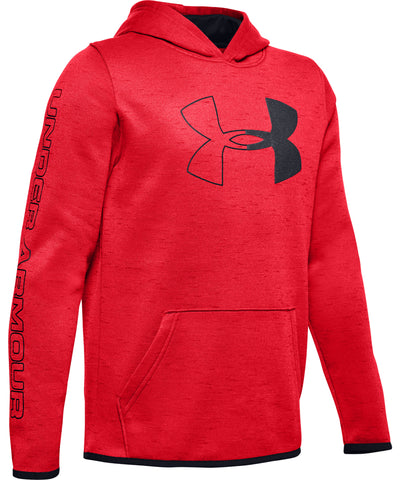 UNDER ARMOUR ARMOUR FLEECE BRANDED KID'S HOODIE - RED