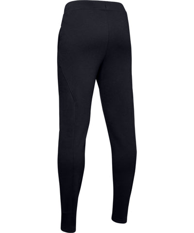 UNDER ARMOUR KID'S RIVAL SOLID PANTS - BLACK