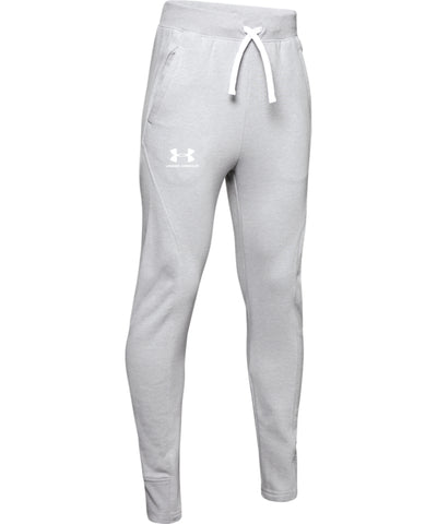 UNDER ARMOUR KID'S RIVAL SOLID PANTS - GREY
