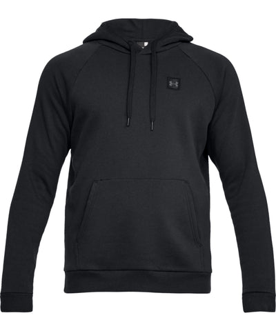 UNDER ARMOUR MEN'S RIVAL FLEECE HOODIE - BLACK