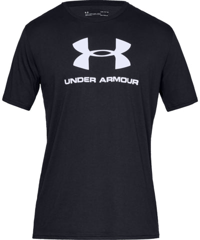 UNDER ARMOUR MEN'S SPORTSTYLE LOGO T SHIRT - BLACK