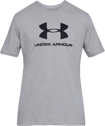 UNDER ARMOUR MEN'S SPORTSTYLE LOGO T SHIRT - GREY