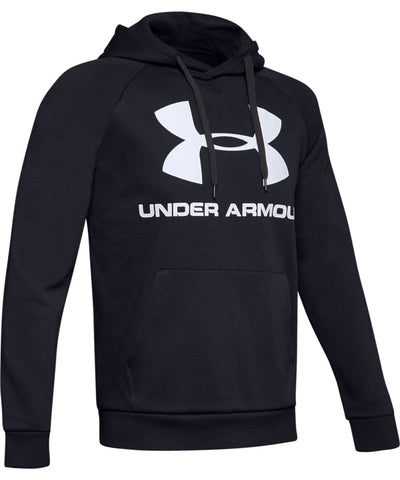 UNDER ARMOUR RIVAL FLEECE LOGO MEN'S HOODIE II - BLACK