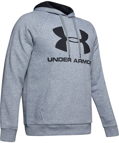 UNDER ARMOUR RIVAL FLEECE LOGO MEN'S HOODIE II - GREY