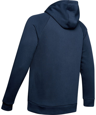 UNDER ARMOUR RIVAL FLEECE LOGO MEN'S HOODIE II - NAVY