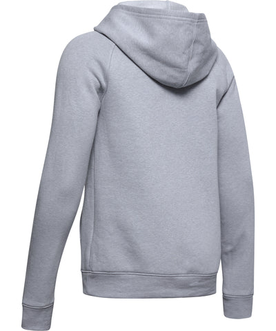 UNDER ARMOUR RIVAL KID'S HOODIE - GREY