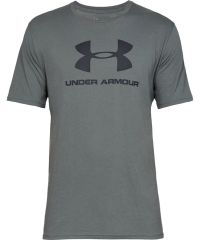 UNDER ARMOUR SPORTSTYLE LOGO MEN'S SHORT SLEEVE SHIRT - GREY