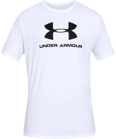 UNDER ARMOUR SPORTSTYLE LOGO MEN'S SHORT SLEEVE SHIRT - WHITE