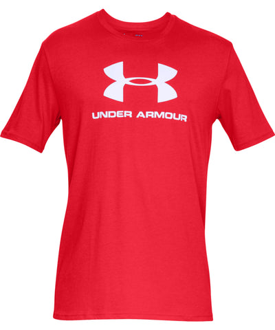 UNDER ARMOUR SPORTSTYLE LOGO MEN'S SHORT SLEEVE SHIRT - RED