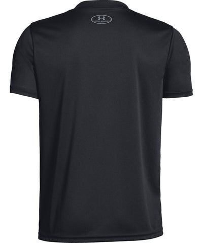 UNDER ARMOUR TECH BIG LOGO SOLID KID'S T SHIRT - BLACK