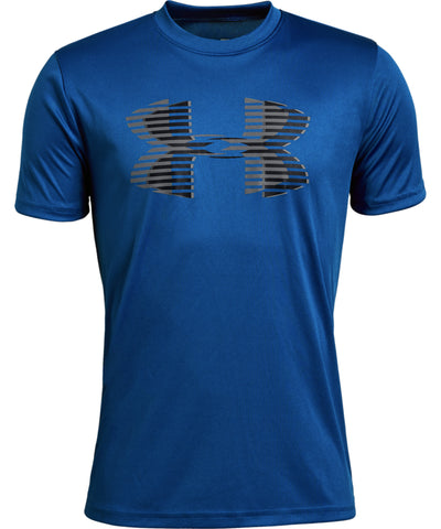 UNDER ARMOUR TECH BIG LOGO SOLID KID'S T SHIRT - BLUE