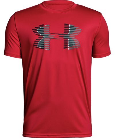 UNDER ARMOUR TECH BIG LOGO SOLID KID'S T SHIRT - RED
