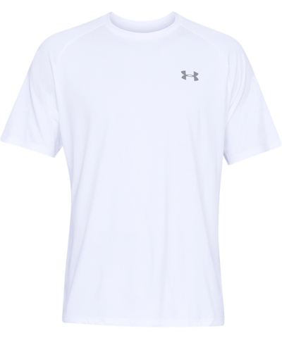 UNDER ARMOUR TECH MEN'S T SHIRT - WHITE