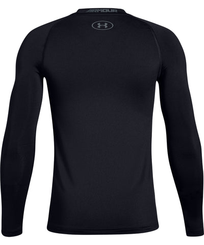 UNDER ARMOUR UA ARMOUR KID'S LONG SLEEVE SHIRT - BLACK