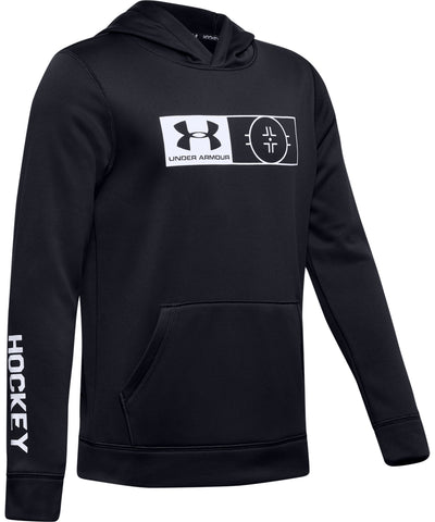 UNDER ARMOUR UA HOCKEY KID'S HOODIE - BLACK