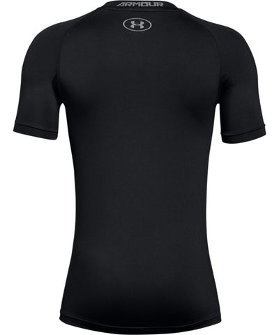 UNDER ARMOUR BOYS ARMOUR SHORT SLEEVE T SHIRT - BLACK