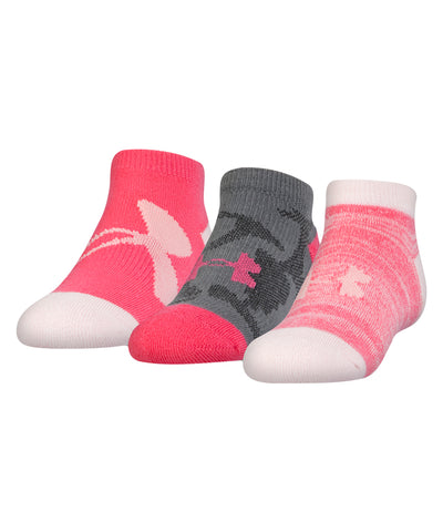 UNDER ARMOUR NEXT NO SHOW GIRL'S SOCKS - 3 PACK