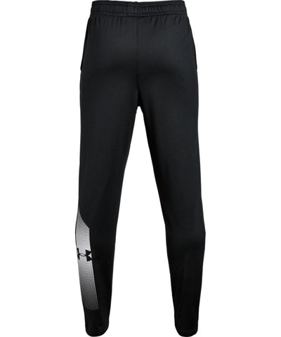 UNDER ARMOUR KID'S BRAWLER TAPERED PANTS - BLACK