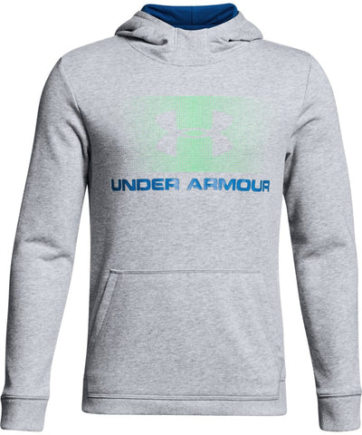 UNDER ARMOUR KID'S COTTON FRENCH TERRY HOODIE - BLUE