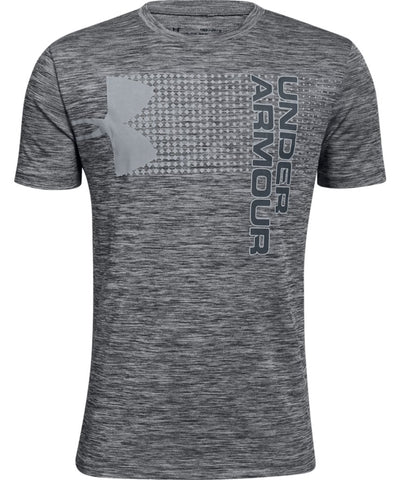 UNDER ARMOUR KID'S CROSSFADE T SHIRT - BLACK