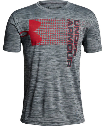 UNDER ARMOUR KID'S CROSSFADE T SHIRT - GREY