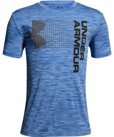 UNDER ARMOUR KID'S CROSSFADE T SHIRT - BLUE