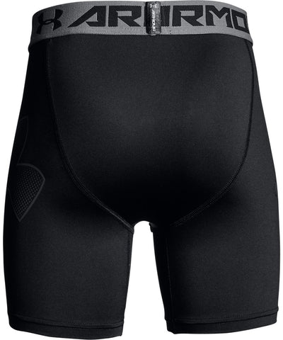 UNDER ARMOUR KID'S MID COMPRESSION SHORTS - BLACK