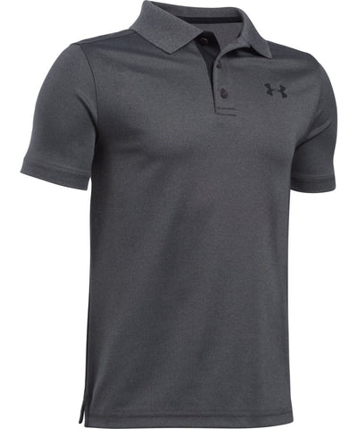 UNDER ARMOUR KID'S PERFORMANCE POLO - GREY