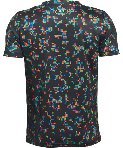UNDER ARMOUR KID'S PRINTED CROSSFADE T SHIRT - BLACK