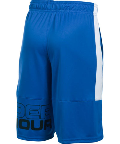 UNDER ARMOUR KID'S STUNT SHORTS - BLUE