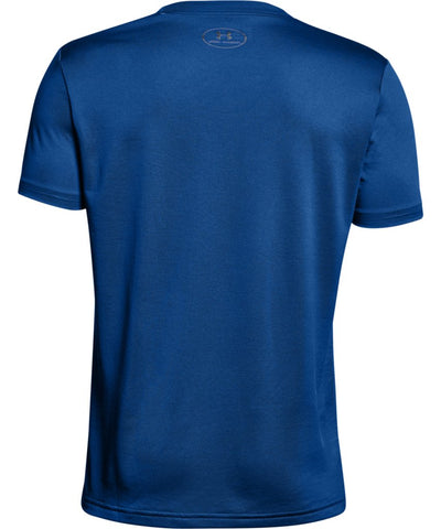 UNDER ARMOUR KID'S TECH BIG LOGO SOLID T SHIRT - BLUE