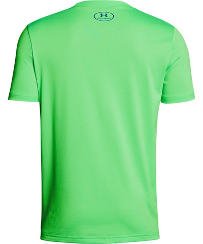 UNDER ARMOUR KID'S TECH BIG LOGO SOLID T SHIRT - GREEN