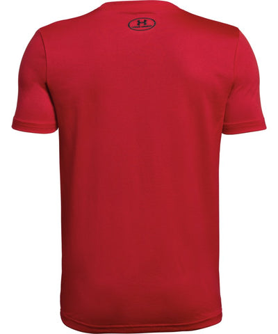 UNDER ARMOUR KID'S TECH BIG LOGO SOLID T SHIRT - RED