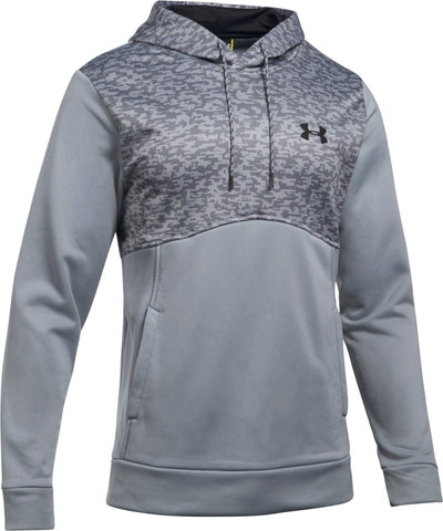 UNDER ARMOUR MEN'S AF HOODIE - DIGI TEXTURE- STEEL