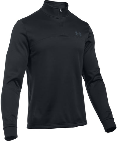 UNDER ARMOUR MEN'S ARMOUR FLEECE 1/4 ZIP- BLACK