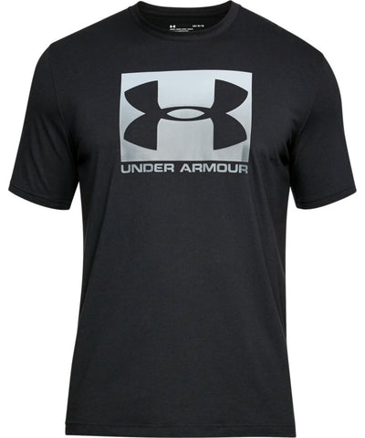 UNDER ARMOUR MEN'S BOXED SPORTSTYLE T SHIRT - BLACK