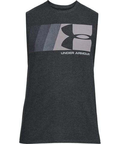 UNDER ARMOUR MEN'S GRAPHIC MUSCLE TANK - BLACK