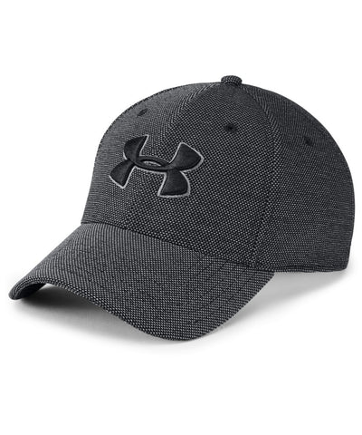 UNDER ARMOUR MEN'S HEATHERED BLITZING 3.0 CAP - BLACK