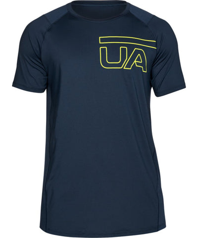 UNDER ARMOUR MEN'S MK1 GRAPHIC T SHIRT - NAVY