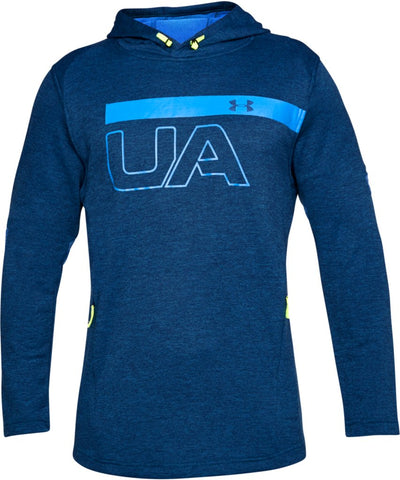 UNDER ARMOUR MEN'S MK1 TERRY GRAPHIC HOODIE - BLUE