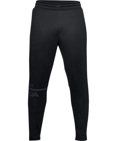 UNDER ARMOUR MEN'S MK1 TERRY TAPERED PANTS - BLACK