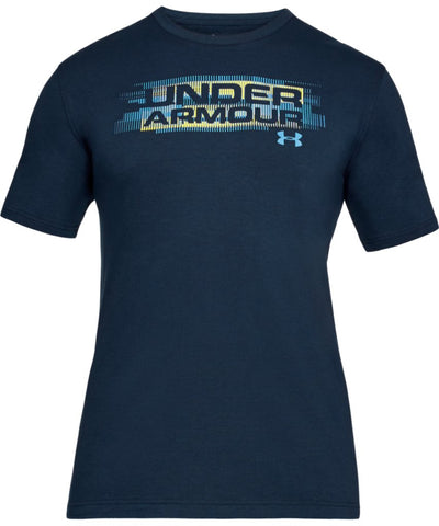 UNDER ARMOUR MEN'S PHASE WORDMARK T SHIRT - NAVY